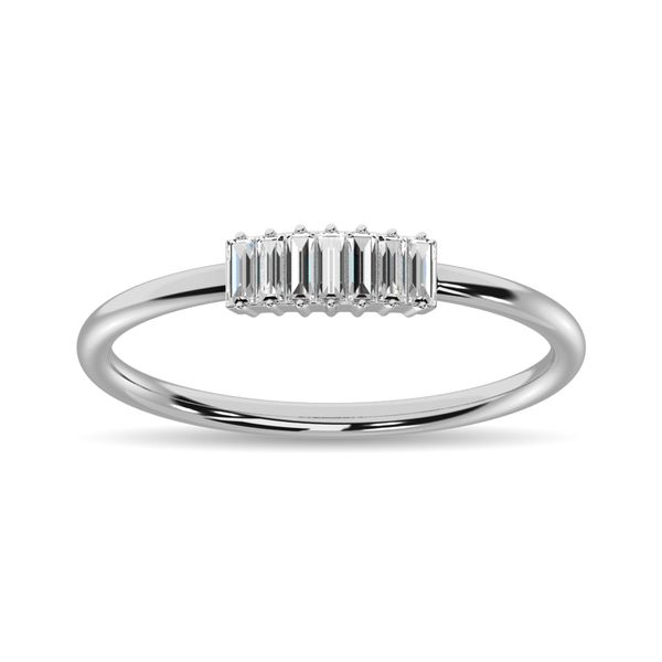 Diamond 1/10 ct tw Baguette Cut Fashion Ring in 14K White Gold Image 2 Robert Irwin Jewelers Memphis, TN