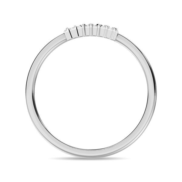 Diamond 1/10 ct tw Baguette Cut Fashion Ring in 14K White Gold Image 4 Robert Irwin Jewelers Memphis, TN