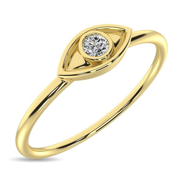 Diamond 1/20 ct tw Eye Ring in 10K Yellow Gold Robert Irwin Jewelers Memphis, TN