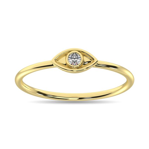 Diamond 1/20 ct tw Eye Ring in 10K Yellow Gold Image 2 Robert Irwin Jewelers Memphis, TN