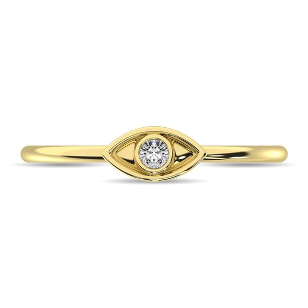 Diamond 1/20 ct tw Eye Ring in 10K Yellow Gold Image 3 Robert Irwin Jewelers Memphis, TN