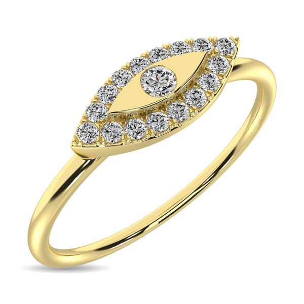 Diamond 1/10 ct tw Round Cut Fashion Ring in 10K Yellow Gold Robert Irwin Jewelers Memphis, TN