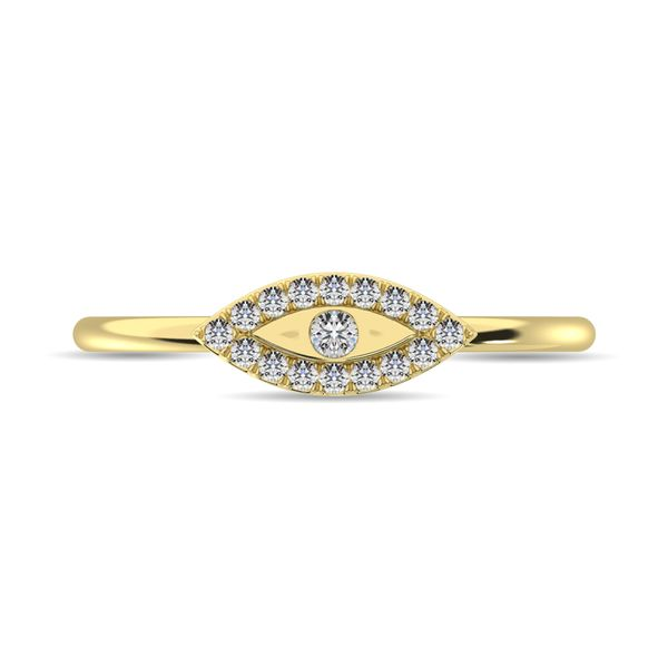 Diamond 1/10 ct tw Round Cut Fashion Ring in 10K Yellow Gold Image 3 Robert Irwin Jewelers Memphis, TN