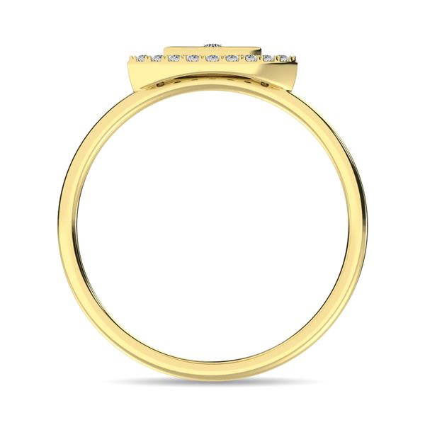 Diamond 1/10 ct tw Round Cut Fashion Ring in 10K Yellow Gold Image 4 Robert Irwin Jewelers Memphis, TN