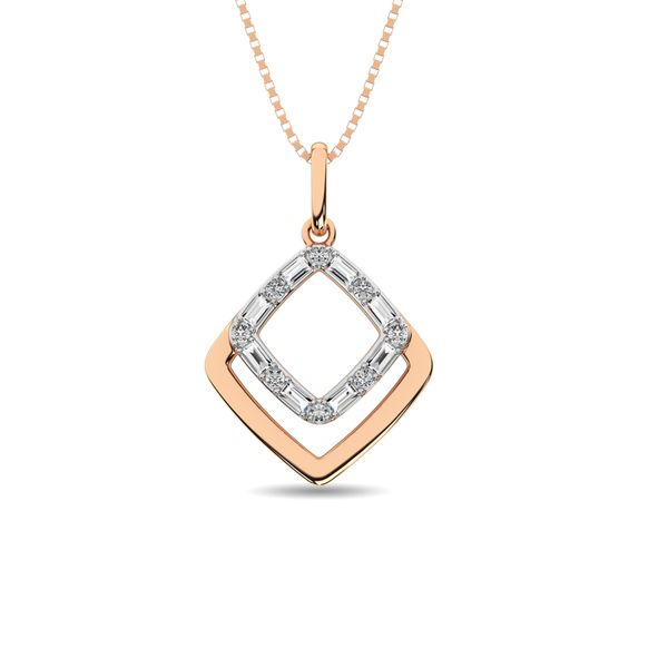 Diamond 1/10 ct tw Fashion Pendant in 14K Two Tone Gold Robert Irwin Jewelers Memphis, TN