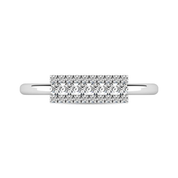 Diamond 1/4 ct tw Bar Ring in 14K White Gold Robert Irwin Jewelers Memphis, TN