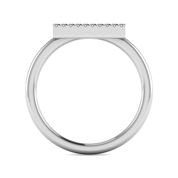 Diamond 1/4 ct tw Bar Ring in 14K White Gold Image 4 Robert Irwin Jewelers Memphis, TN
