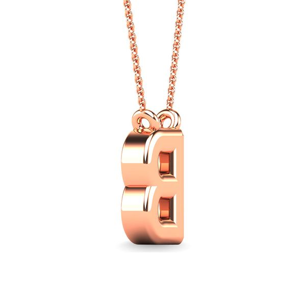"Diamond 1/20 Ct.Tw. Letter B"" Pendant in 10K Rose Gold"" Image 3 Robert Irwin Jewelers Memphis, TN"