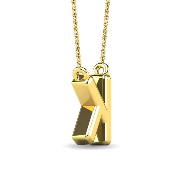 "Diamond 1/20 Ct.Tw. Letter K"" Pendant in 10K Yellow Gold"" Image 3 Robert Irwin Jewelers Memphis, TN"