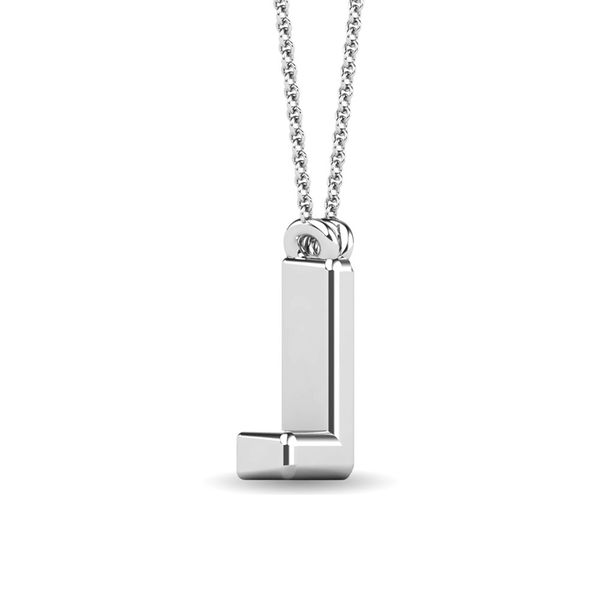 "Diamond 1/20 Ct.Tw. Letter L"" Pendant in 10K White Gold"" Image 3 Robert Irwin Jewelers Memphis, TN"