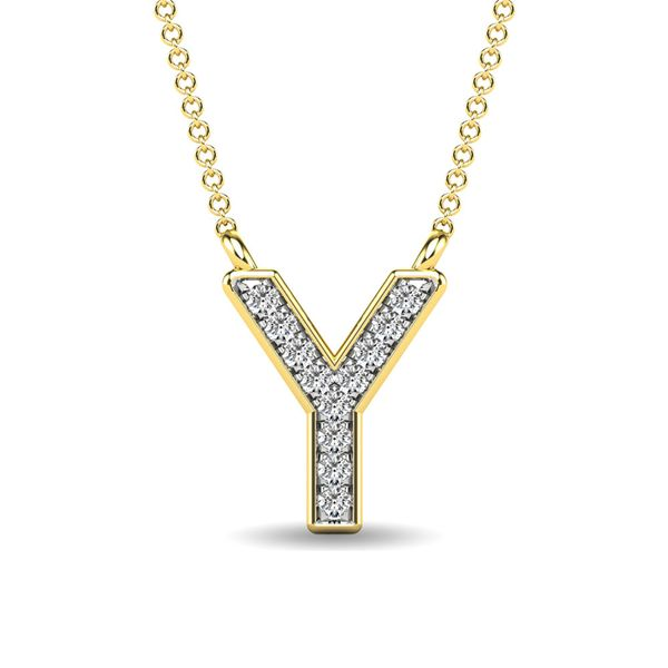 "Diamond 1/20 Ct.Tw. Letter Y"" Pendant in 10K Yellow Gold"" Robert Irwin Jewelers Memphis, TN"