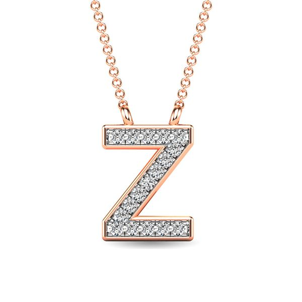 "Diamond 1/20 Ct.Tw. Letter Z"" Pendant in 10K Rose Gold"" Robert Irwin Jewelers Memphis, TN"