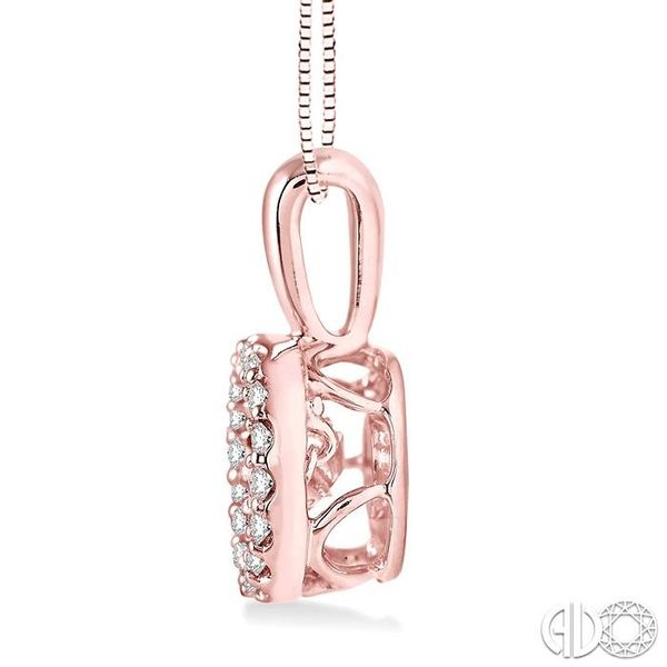 1/3 Ctw Diamond Emotion Pendant in 14K Rose Gold with Chain Image 2 Robert Irwin Jewelers Memphis, TN