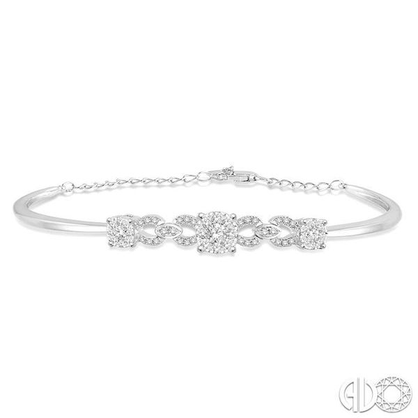 3/4 Ctw Round Cut Diamond Lovebright Bracelet in 14K White Gold Robert Irwin Jewelers Memphis, TN