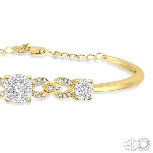 3/4 Ctw Round Cut Diamond Lovebright Bracelet in 14K Yellow Gold Image 2 Robert Irwin Jewelers Memphis, TN
