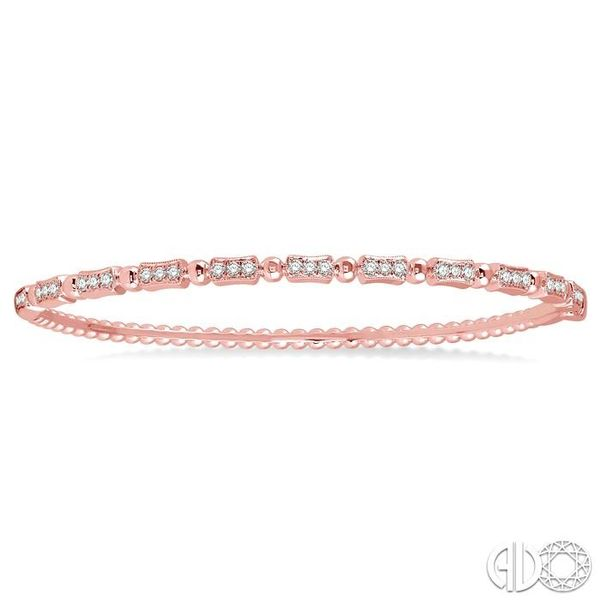 1/2 Ctw Box Link Round Cut Stackable Diamond Bangle in 14K Rose Gold Image 2 Robert Irwin Jewelers Memphis, TN