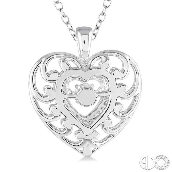 1/20 Ctw Heart Shape Diamond Emotion Pendant in Sterling Silver with Chain Image 3 Robert Irwin Jewelers Memphis, TN