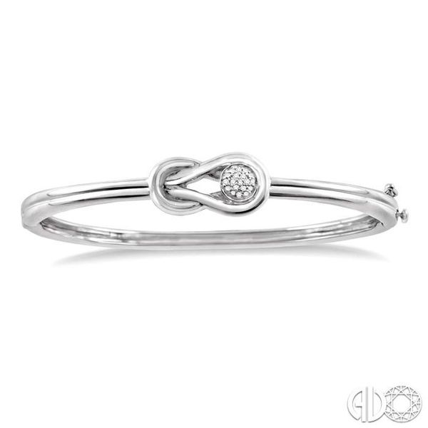 1/20 Ctw Single Cut Diamond Infinity Bangle in Sterling Silver Image 2 Robert Irwin Jewelers Memphis, TN
