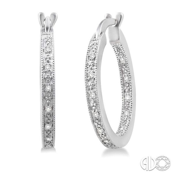 SILVER HOOP DIAMOND EARRINGS Robert Irwin Jewelers Memphis, TN