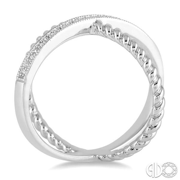 'X' SHAPE SILVER DIAMOND RING Image 3 Robert Irwin Jewelers Memphis, TN