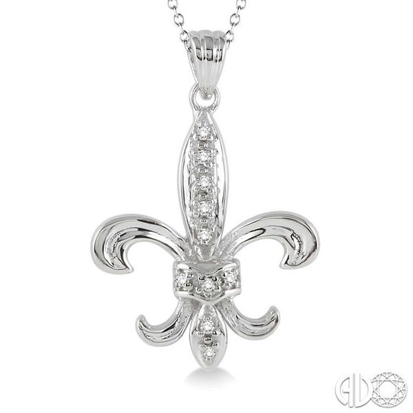 1/20 Ctw Single Cut Diamond Pendant in Sterling Silver with Chain Image 3 Robert Irwin Jewelers Memphis, TN