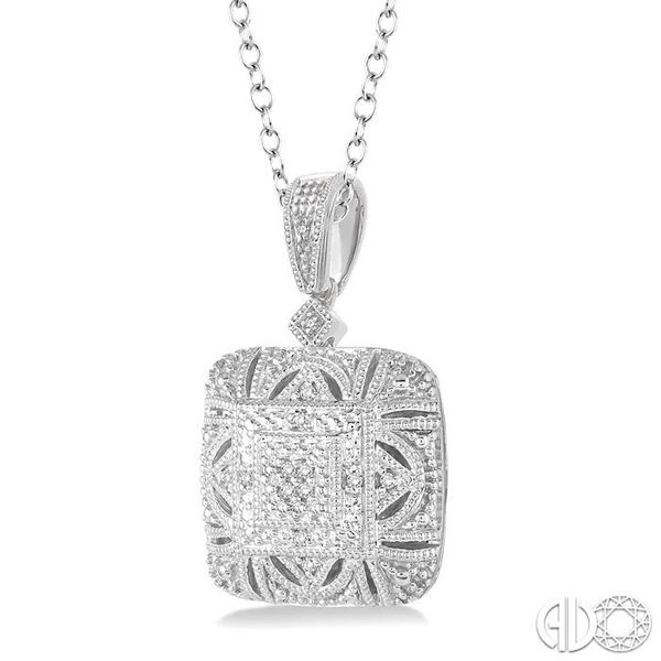 1/20 Ctw Round Cut Diamond Fashion Pendant in Sterling Silver with Chain Image 2 Robert Irwin Jewelers Memphis, TN