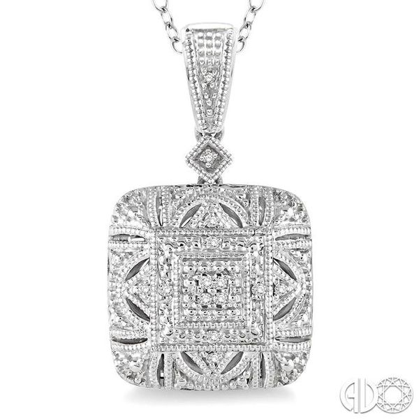 1/20 Ctw Round Cut Diamond Fashion Pendant in Sterling Silver with Chain Image 3 Robert Irwin Jewelers Memphis, TN