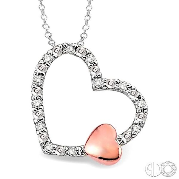 1/20 Ctw Heart Shape Single Cut Diamond Pendant in Sterling Silver with Chain Robert Irwin Jewelers Memphis, TN