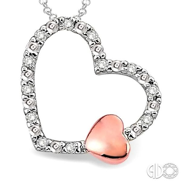 1/20 Ctw Heart Shape Single Cut Diamond Pendant in Sterling Silver with Chain Image 3 Robert Irwin Jewelers Memphis, TN