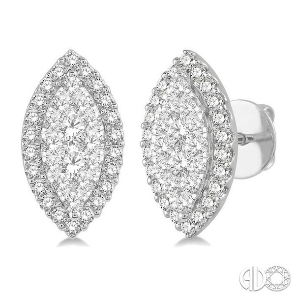 MARQUISE SHAPE LOVEBRIGHT DIAMOND EARRINGS Robert Irwin Jewelers Memphis, TN