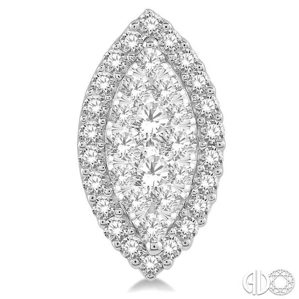 MARQUISE SHAPE LOVEBRIGHT DIAMOND EARRINGS Image 2 Robert Irwin Jewelers Memphis, TN