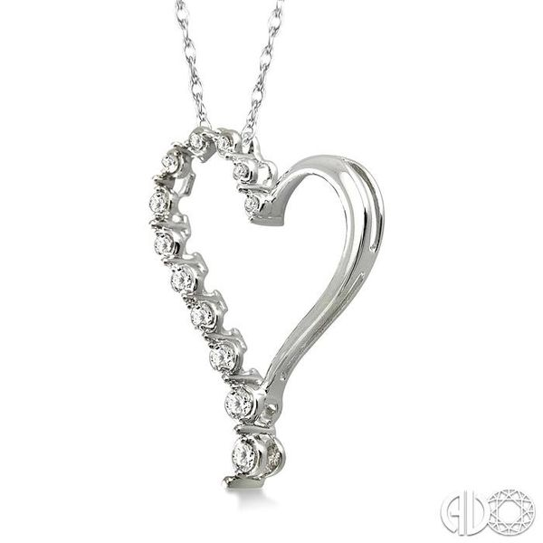 HALF JOURNEY DIAMOND HEART SHAPE PENDANT Image 2 Robert Irwin Jewelers Memphis, TN