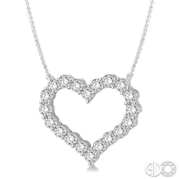 HEART SHAPE DIAMOND NECKLACE Image 2 Robert Irwin Jewelers Memphis, TN