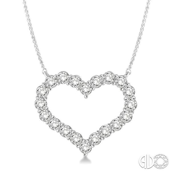 HEART SHAPE DIAMOND NECKLACE Robert Irwin Jewelers Memphis, TN