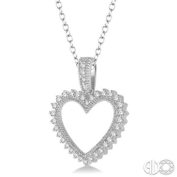 HEART SHAPE DIAMOND PENDANT Image 2 Robert Irwin Jewelers Memphis, TN