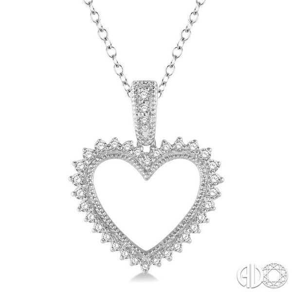 HEART SHAPE DIAMOND PENDANT Robert Irwin Jewelers Memphis, TN