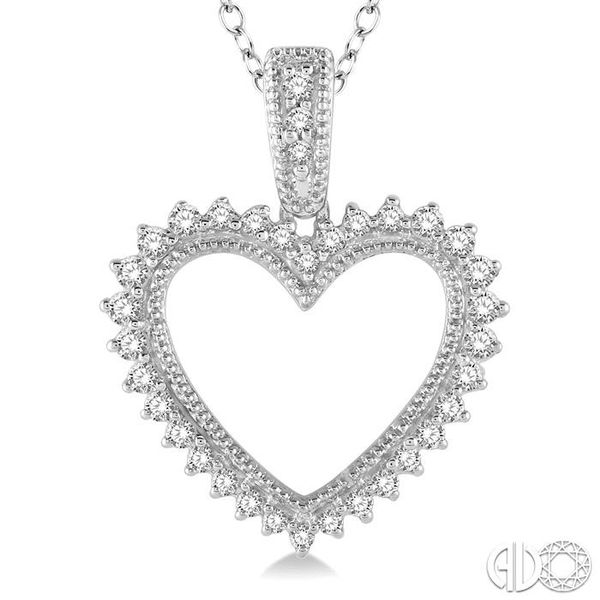 HEART SHAPE DIAMOND PENDANT Image 3 Robert Irwin Jewelers Memphis, TN