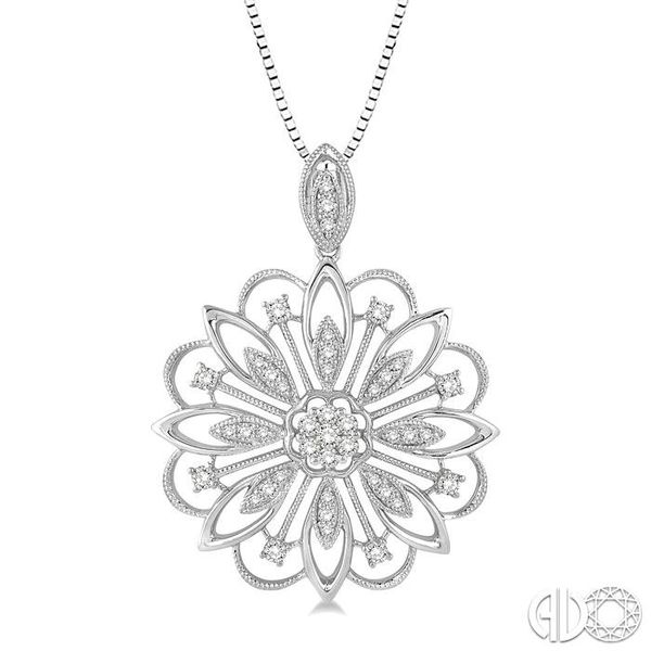 1/3 Ctw Round Cut Diamond Lovebright Pendant in 14K White Gold with Chain Robert Irwin Jewelers Memphis, TN