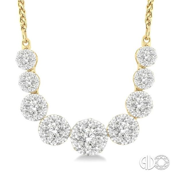 1 Ctw Round Cut Diamond Lovebright Necklace in 14K Yellow and White Gold Robert Irwin Jewelers Memphis, TN