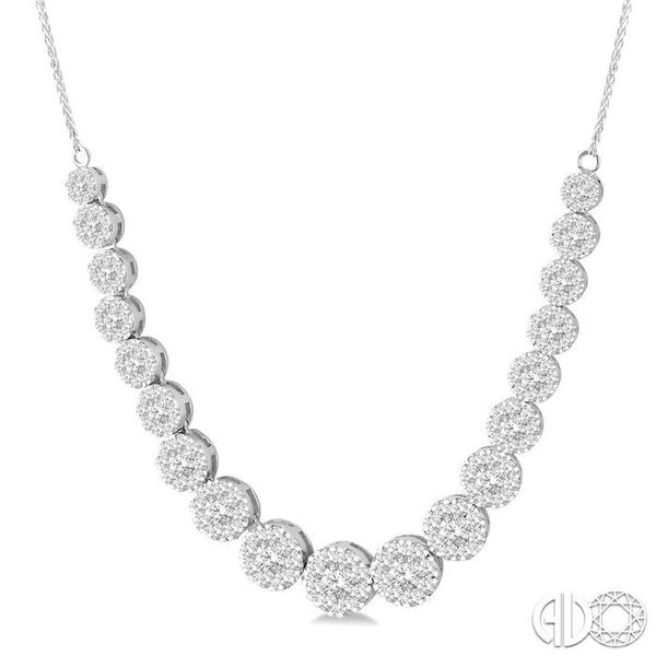 4 Ctw Round Cut Diamond Lovebright Necklace in 14K White Gold Image 2 Robert Irwin Jewelers Memphis, TN
