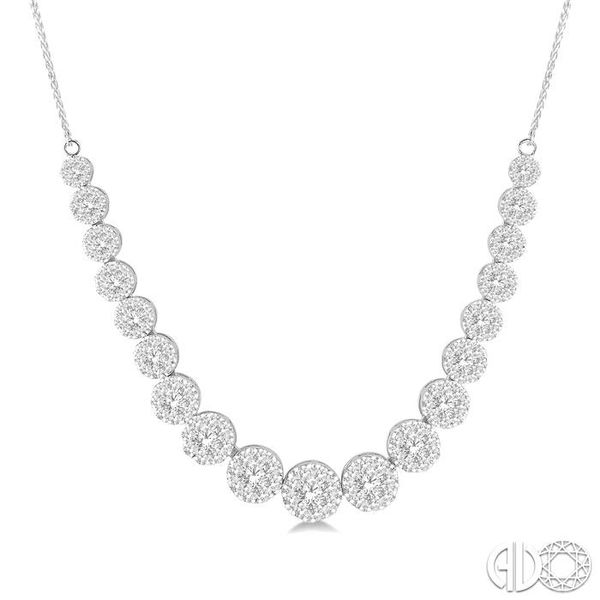 4 Ctw Round Cut Diamond Lovebright Necklace in 14K White Gold Robert Irwin Jewelers Memphis, TN