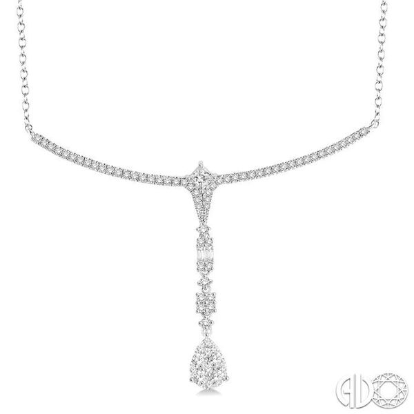 1 1/4 Ctw Diamond Lovebright Necklace in 14K White Gold Robert Irwin Jewelers Memphis, TN