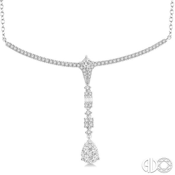1 1/4 Ctw Diamond Lovebright Necklace in 14K White Gold Image 3 Robert Irwin Jewelers Memphis, TN