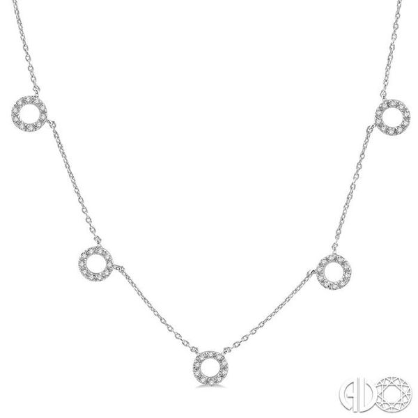1/6 Ctw Circle Cutout Round Cut Diamond Necklace in 10K White Gold Robert Irwin Jewelers Memphis, TN
