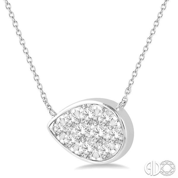 1/2 Ctw Pear Shape Pendant Lovebright Diamond Necklace in 14K White Gold Image 2 Robert Irwin Jewelers Memphis, TN
