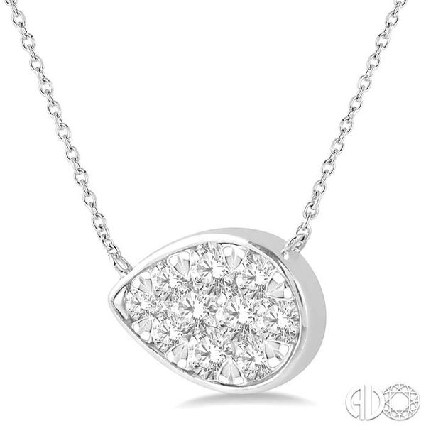 3/4 Ctw Pear Shape Pendant Lovebright Diamond Necklace in 14K White Gold Image 2 Robert Irwin Jewelers Memphis, TN