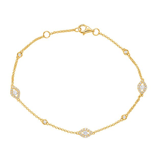 Yellow Gold Diamond Bracelet Robert Irwin Jewelers Memphis, TN