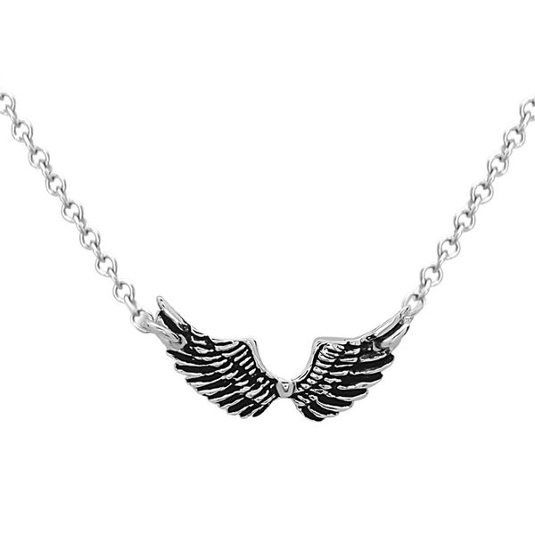 Sterling Silver Small Wing Necklace Robert Irwin Jewelers Memphis, TN