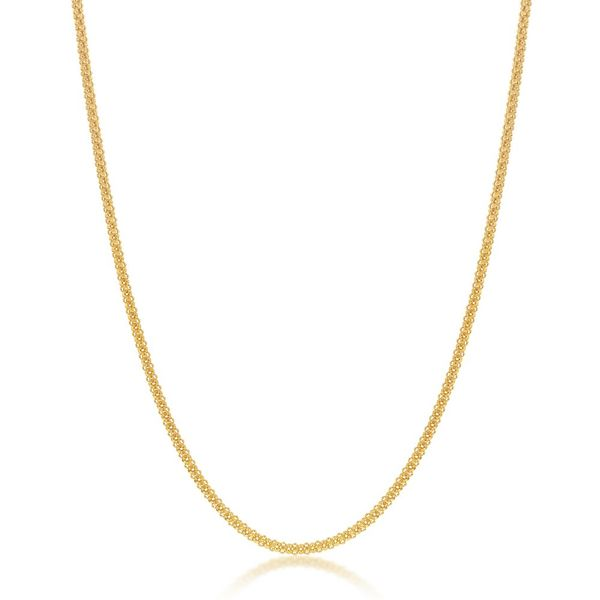 Sterling Silver 1.8mm Pop Corn Chain - Gold Plated Robert Irwin Jewelers Memphis, TN