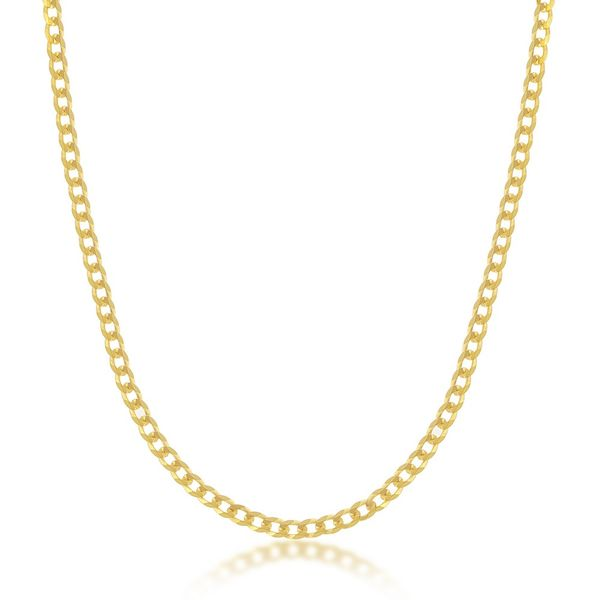 Sterling Silver 3mm Cuban Chain - Gold Plated Robert Irwin Jewelers Memphis, TN